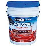 STA-Kool SK-7705 Traditional Acrylic Elastomeric Roof Coating, 5 gal, White