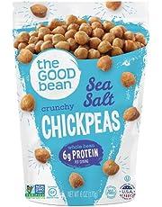 The Good Bean Chickpea Snacks, Sea Salt, Gluten and Nut Free, 6 Ounce