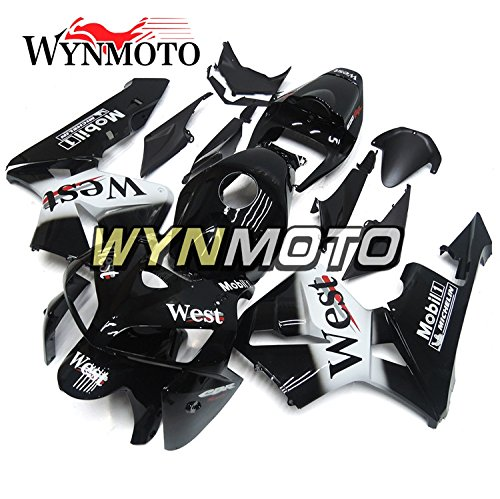 - WYNMOTO Shinnying Black White West Motorcycle Body Kit For Honda CBR600rr CBR600RR F5 05-06 2005 2006 Sportbike ABS Plastic Injection Fairings