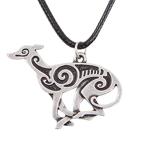 Paw Paw House Elegant Sitting Italian Greyhound Dog Necklace Animal Pendant I Love My Dog Memorial Gift Greyhound Rescue 1252 (1255)