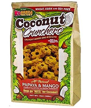 K9 Granola Factory Papaya and Mango Coconut Crunchers Pack of 3