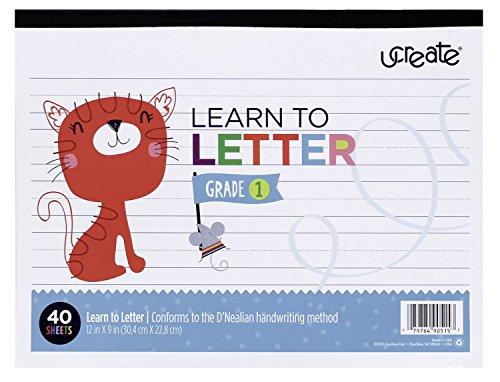 Carolina Pad Ucreate 90515 Learn to Letter Grade 1 (D'Nea...