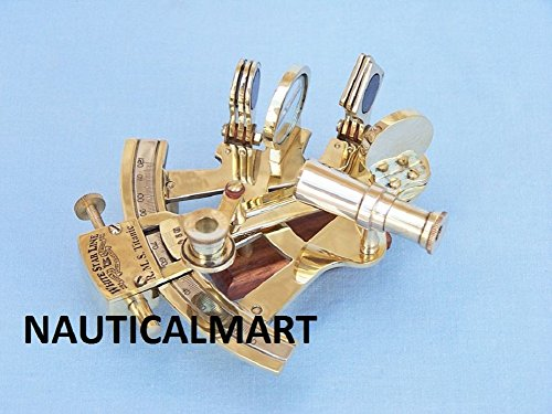 5'' SOLID BRASS MARINE SEXTANT - NAUTICAL NAVIGATION COLLECTION BY NAUTICALMART