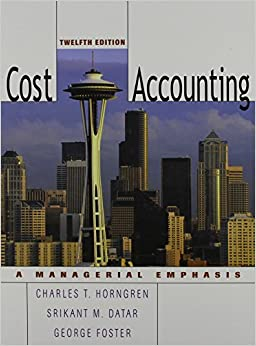 Cost Accounting: United States Edition: A Managerial Emphasis PDF Descargar Gratis