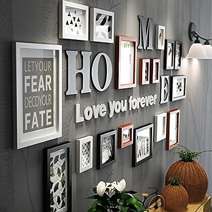 HJKY Cornice per foto Cornice da parete Soggiorno Camera da letto ...