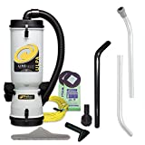 used back pack vacuum - ProTeam Commercial Backpack Vacuum Cleaner, LineVacer ULPA Vacuum Backpack with High Filtration Tool Kit, 10 Quart, Corded
