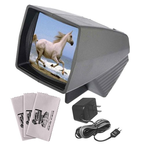 Pana-Vue 1 Lighted 2x2 Slide Film Viewer with AC Adapter + 3 Microfiber Cleaning (35 Mm Slide Cleaning)