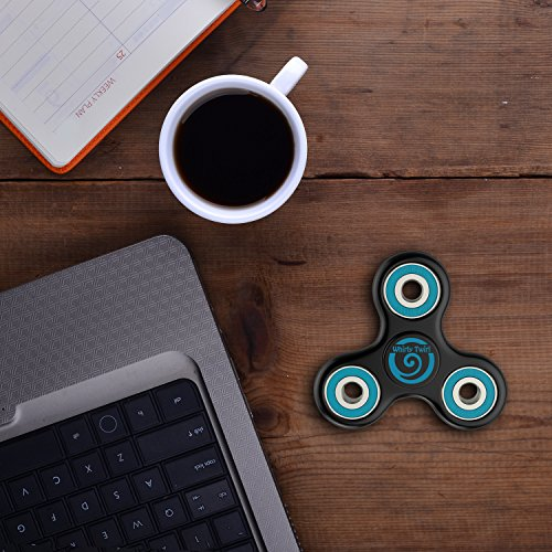 Fidget Spinner Fiddle Sensory Toys – Best 360 Hand Tri-Spinner EDC Focus Toy for Kids and Adults – Lessens Symptoms of Anxiety ADHD Stress Hyperactivity Autism – Highest Quality Bearings