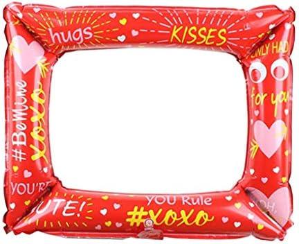 Colcolo 子供の誕生日クリスマス装飾のためのハッピーバースデーバルーンアルミホイルバルーン - 赤