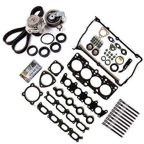 SCITOO for 01-06 Audi A4 Quattro 1.8 Turbo DOHC,Replaceable Timing Belt kit and Head Gasket kit Including Timing Belt Water Pump Head Gasket kit with Head Bolts etc