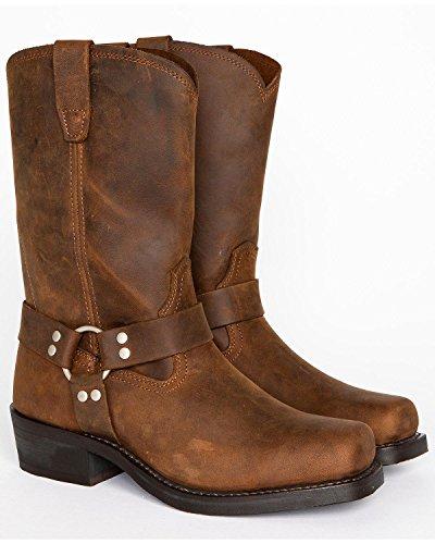 (Cody James Men's Harness Boot Square Toe Brown 10.5)