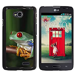 Paccase / SLIM PC / Aliminium Casa Carcasa Funda Case Cover para - Frog Tropical Rainforest Nature Green - LG Optimus L70 / LS620 / D325 / MS323