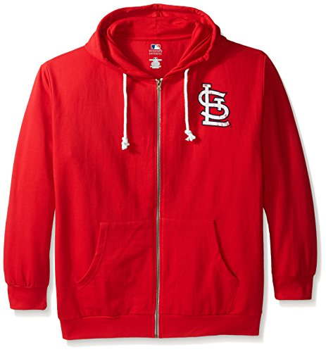 MLB St. Louis Cardinals Women's Plus Size Zip Hood with Logo, 2X, Red by Profile Big & Tall