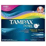 Tampax Pearl Plastic Tampons, Triplepack, Light/Regular/Super Absorbency, Unscented, 50 Count