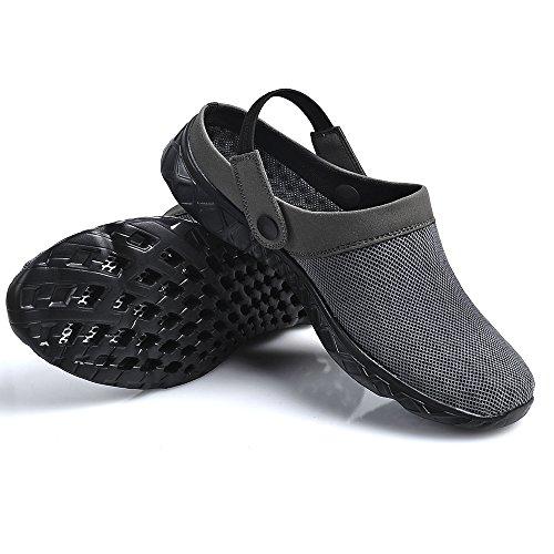 Feetmat Unisex Womens Mens Garden Clog Shoes Quick Drying Slippers Sandals Darkgrey RoUMNtYV
