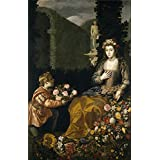 Oil painting 'Hamen y Leon Juan van der Offering to Flora 1627 ' printing on high quality polyster Canvas , 8 x 12 inch / 20 x 32 cm ,the best dining Room gallery art and Home decor and Gifts is this High quality Art Decorative Prints on Canvas