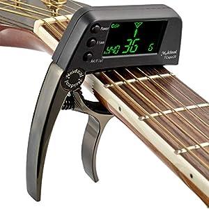 2 in 1 Stimmgeräte Kapodaster für Gitarre Clip-on Stimmgerät Gitarre, Tuner Stimmgerät/Tuner mit LCD-Display für Gitarre…
