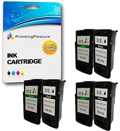 2 Compatibles PG-512 CL-513 Cartuchos de Tinta para Pixma iP2700 ...
