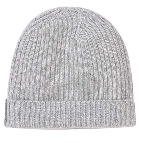 WaySoft Pure 100% Cashmere Beanie for Women in a Gift Box, Extra Warm Soft Women Beanie Hat, Bring Warm and Luxury to Your Loved Ones, Perfect (Classic Grey)
