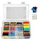 448Pcs Solder Seal Wire Connectors Waterproof & Heat Shrink Tubing | Butt Connectors and Shrink Tubes | All in One Electrical, Boat and Automotive Splice Kit | No Crimp Cables and Wires Ultimate Box