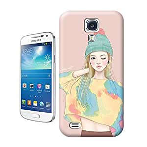 Unique Phone Case Watercolor girl#13 Hard Cover for samsung galaxy s4 cases-buythecase
