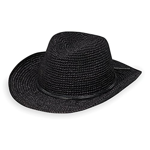 Wallaroo Hat Company Women's Hannah Hat - Studded Vegan Leather Trimmed Cowboy Hat