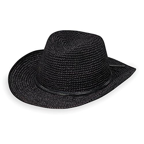 Wallaroo Hat Company Women's Hannah Hat - Studded Vegan Leather Trimmed Cowboy Hat