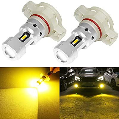 Phinlion 3800 Lumens 5202 5201 LED Yellow Fog Light Bulbs Super Bright CSP 12085 12086 PS24W LED DRL Bulb Replacement for Car Truck Fog Lights Lamps, 3000K Golden Yellow: Automotive