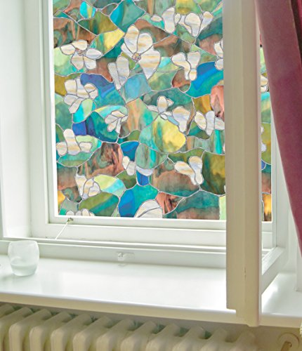 Stained Glass Mountains - Artscape Mountain Blossom Window Film 24
