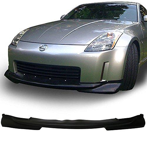 (Front Bumper Lip Fits 2003-2005 Nissan 350Z | KS Style PU Black Front Lip Spoiler Splitter by IKON MOTORSPORTS | 2004)