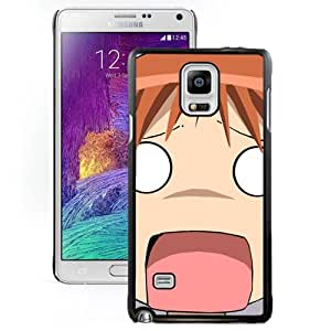Popular And Unique Designed Cover Case For Samsung Galaxy Note 4 N910A N910T N910P N910V N910R4 With Azumanga Daioh Mihama Chiyo Close-up Open Mouth black Phone Case