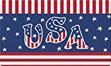 Toland Home Garden Veteran Salute 18 x 30 Inch Decorative Floor Mat Patriotic USA America Stars Stripes Doormat