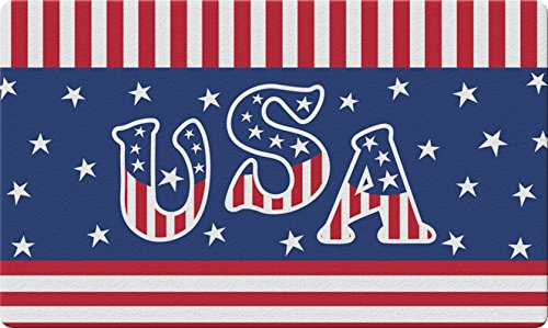 Toland Home Garden Veteran Salute 18 x 30 Inch Decorative Floor Mat Patriotic USA America Stars Stripes Doormat ()