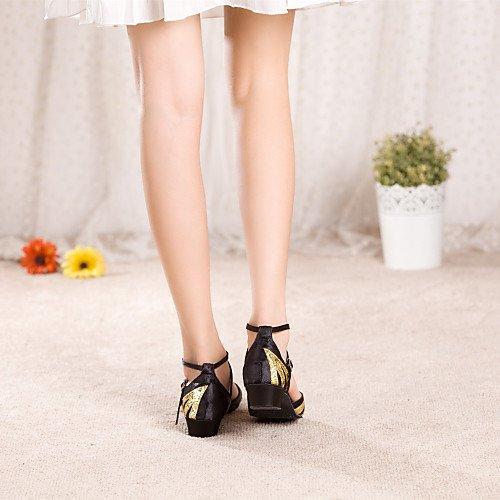 Paillette Dance Heel Kids' Women's Red Red Shoes Q T T Low Satin qT7pw0n