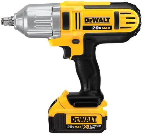 DEWALT 20V MAX XR Impact Wrench Kit, Brushless, High Torque, Detent Pin Anvil, 1 2-Inch DCF889M2