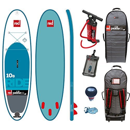 Red Paddle Co RIDE MSL 10'8 x 34'' (2017 Series) Includes Bundle. Titan Pump - Backpack - ERS Pressure Gauge + Pumped Up SUP Sticker by RED Paddle