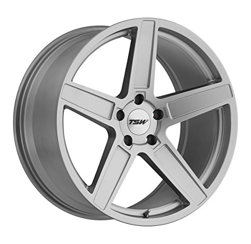 TSW ASCENT Silver Wheel with Painted Finish (18 x 9.5 inches /5 x 114 mm, 40 mm Offset)