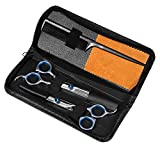 Professional Hair Cutting Scissors Barber Shears Set Hair Thinning Kit with Black Storage Case