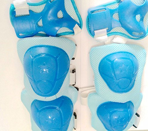 - Kids' Roller Protective Guard, **6 PCS** Eruner Kid's Roller Blading Wrist Elbow Knee Pads Blades Guard for [Sports Cycling Roller Skating] - Blue