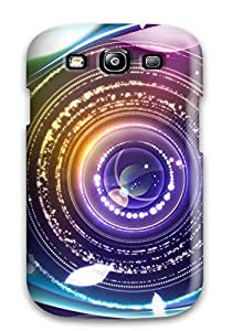 Snap-on Digital Abstract Eye Case Cover Skin Compatible With Galaxy S3
