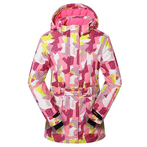 PHIBEE Women's Waterproof Outdoor Snowboard Breathable Ski Jacket Multi1 (Xxl Snowboard Jacket)