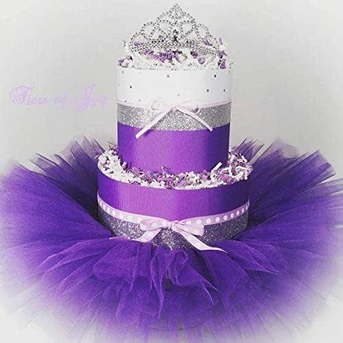 Miraculous Amazon Com Purple And Silver Diaper Cake Princess Tiara Tutu Baby Funny Birthday Cards Online Ioscodamsfinfo