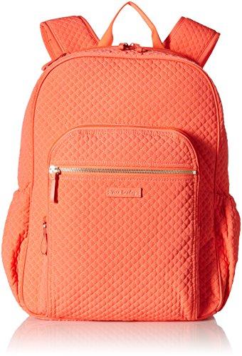 (Vera Bradley Iconic Campus Backpack, Microfiber, Coral Reef)