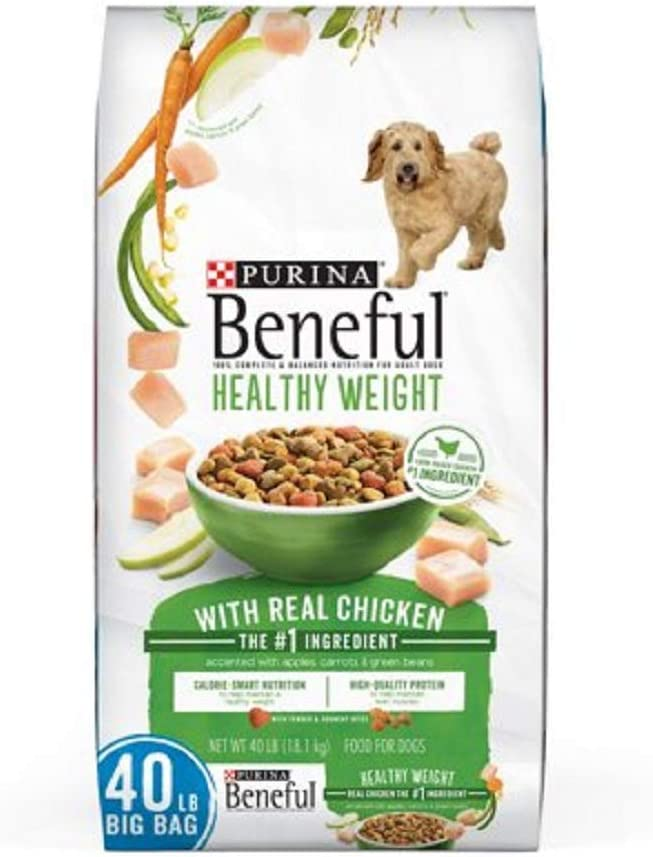 Purina Beneful Originals Adult Dry Dog Food - 15.5 lb. Bag (Healthy Weight with Real Chicken, 40 lb. Bag)