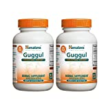 Himalaya Pure Herbs Guggul, Cholesterol Support, 7.5 mg Guggulsterone, 60 Vegetarian Capsules,  (Pack of 2)