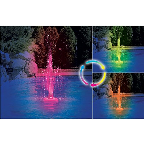 Hydrotools Model 85955 Floating LED Lite-Up Pool Fountain by Hydrotools
