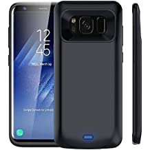 """Galaxy S8 Plus Battery Case, 5500mAh Rechargeable External Battery Portable Charger Protective Charging Case Juice Pack Power Bank Cover for Samsung Galaxy S8+ (6.2"""" Black)"""