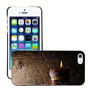 Print Motif Coque de protection Case Cover // M00154995 Fondo de madera ligero de la vela // Apple iPhone 5 5S 5G