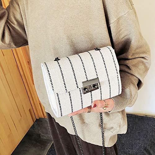 Cellulare Elegante Polso Da Borsette Tracolla A Clutch Quilted E Borse Bianco Piccola Per Donna Feixiang Pochette Borsa 8qO5P