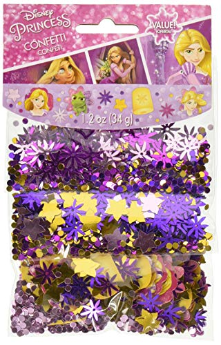 Amscan 361627 Confetti | Disney Rapunzel Dream Big Collection, Multicolor ()